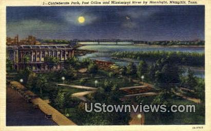 Confederate Park  - Memphis, Tennessee TN Postcard