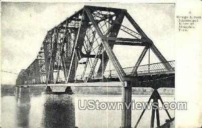 Bridge Across Mississippi River  - Memphis, Tennessee TN Postcard
