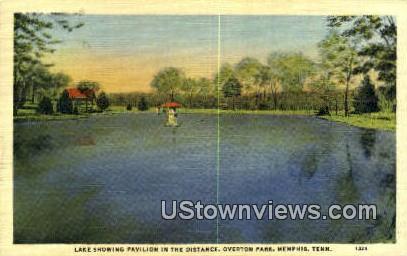 Overton Park Lake and Pavilion  - Memphis, Tennessee TN Postcard