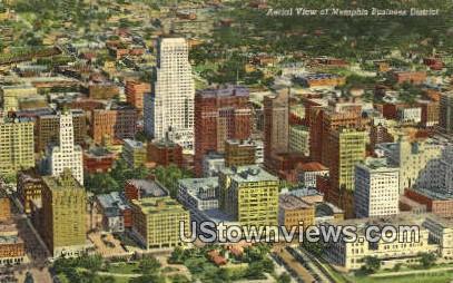 Business District  - Memphis, Tennessee TN Postcard