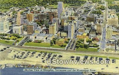Skyline  - Memphis, Tennessee TN Postcard