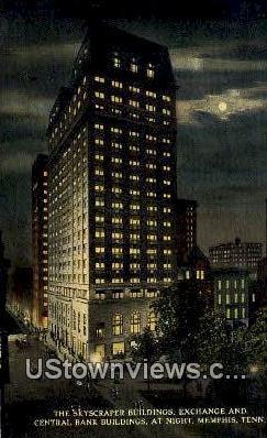 Skyscraper Buildings Exchange - Memphis, Tennessee TN Postcard