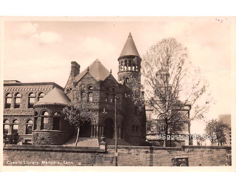Cossitt Library - Memphis, Tennessee TN Postcard