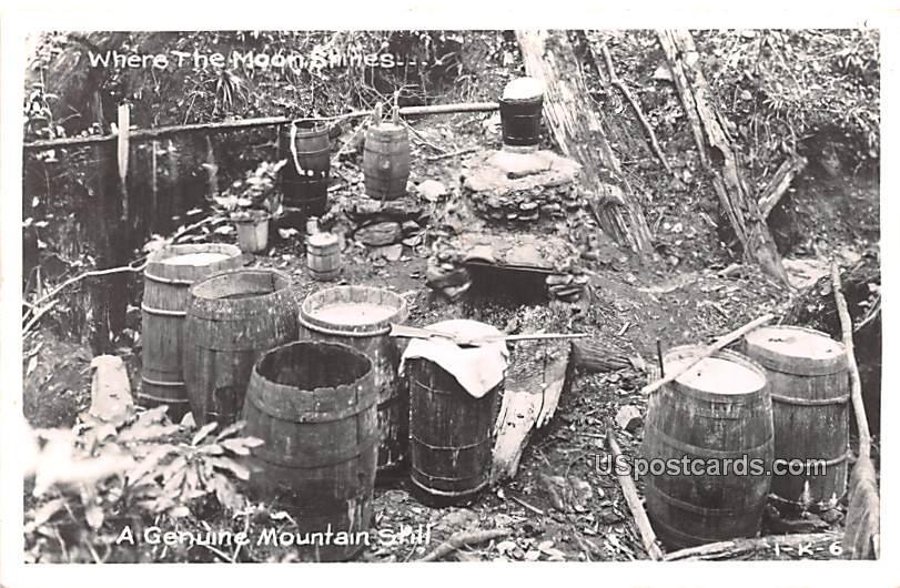Genuine Mountain Still - Misc, Tennessee TN Postcard