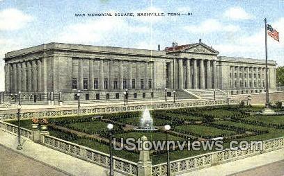 War Memorial Square - Nashville, Tennessee TN Postcard