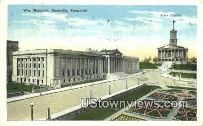 War Memorial - Nashville, Tennessee TN Postcard