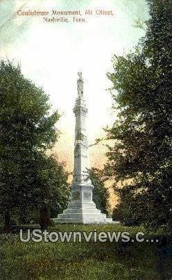 Confederate Monument - Nashville, Tennessee TN Postcard