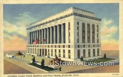 Davidson County Public Bldg - Nashville, Tennessee TN Postcard