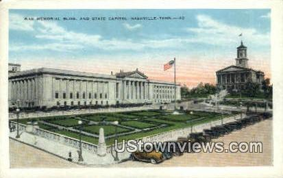 War Memorial Bldg. State Capitol - Nashville, Tennessee TN Postcard