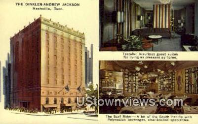 Dinkler Andrew Jackson - Nashville, Tennessee TN Postcard