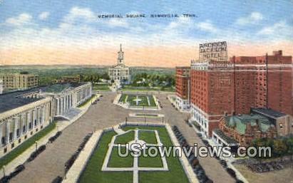 Memorial Square - Nashville, Tennessee TN Postcard