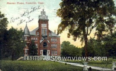 Masonic Home - Nashville, Tennessee TN Postcard