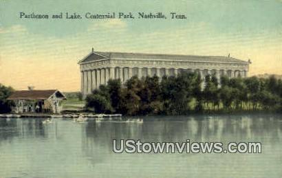 Parthenon & Lake, Centennial Park - Nashville, Tennessee TN Postcard