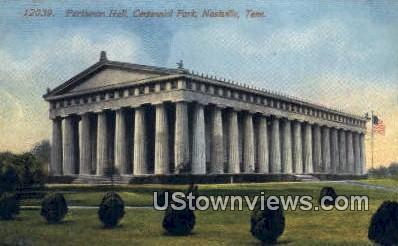 Pathenon Hall, Centennial Park - Nashville, Tennessee TN Postcard