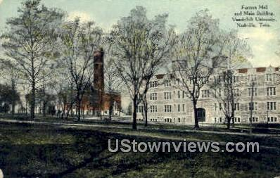 Furman Hall, Vanderbilt University - Nashville, Tennessee TN Postcard