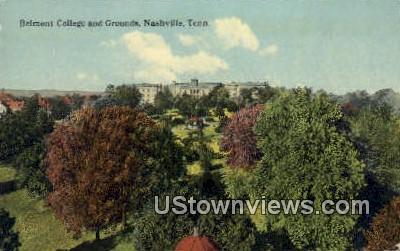 Belmont College & Grounds - Nashville, Tennessee TN Postcard