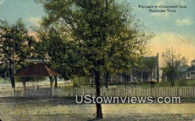 Greenwood Park - Nashville, Tennessee TN Postcard