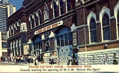 Grand Ole Opry House - Nashville, Tennessee TN Postcard