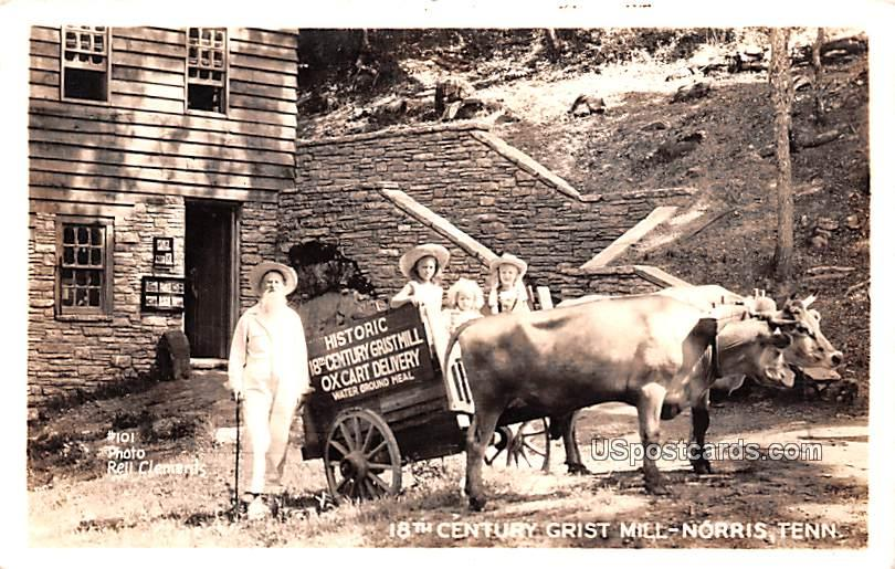 18th Century Grist Mill - Norris, Tennessee TN Postcard