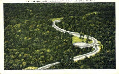 The Loop-Over - Great Smoky Mountains National Park, Tennessee TN Postcard