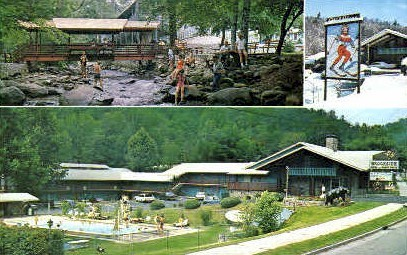 Brookside Motel & Ranch House - Gatlinburg, Tennessee TN Postcard