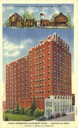 Robertson Apartment Hotel - Nashville, Tennessee TN Postcard
