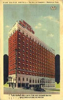 Sam Davis Hotel - Nashville, Tennessee TN Postcard