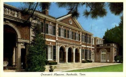 Third Governor's Mansion - Nashville, Tennessee TN Postcard