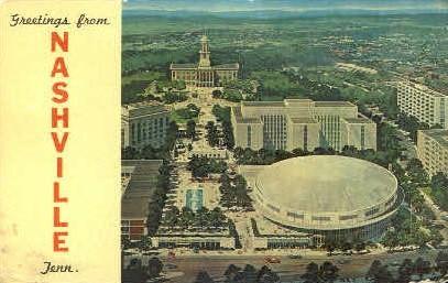 Nashville, Tennessee, TN Postcard