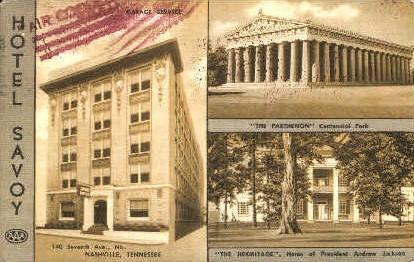 Hotel Savoy - Nashville, Tennessee TN Postcard