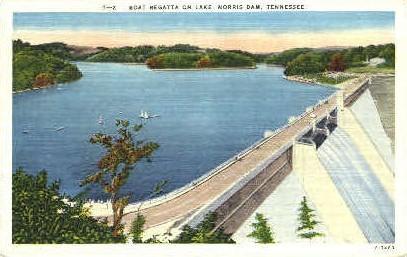 Boat Regatta - Norris, Tennessee TN Postcard