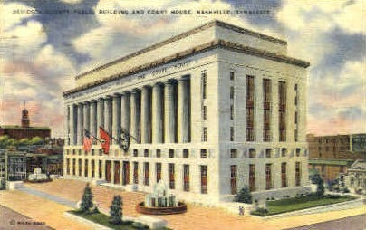 Dividson County Public Building - Nashville, Tennessee TN Postcard
