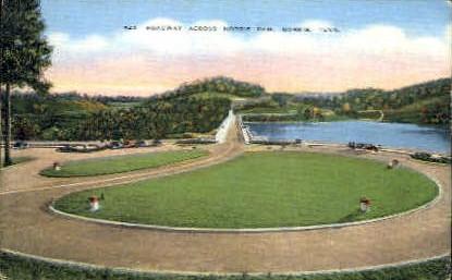 Roadway Across Norris Dam  - Tennessee TN Postcard