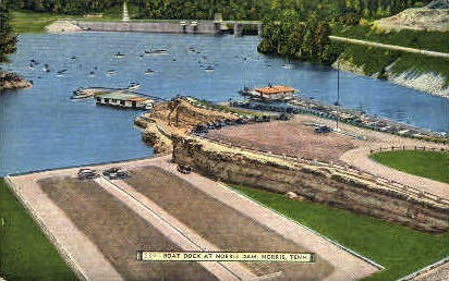Boat Dock - Norris, Tennessee TN Postcard