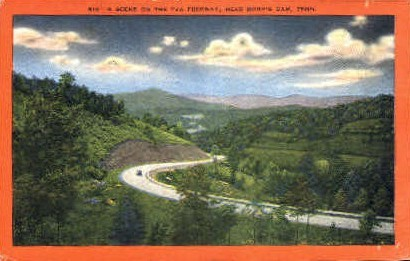 Tennessee Valley Authority's Freeway - Norris Postcard