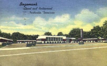 Bozeman's Court & Restaurant - Nashville, Tennessee TN Postcard