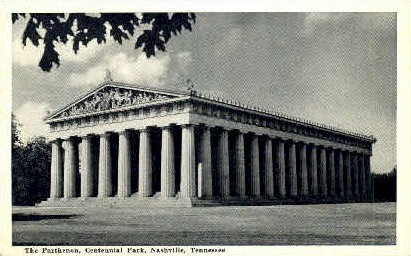 The Parthenon, Centennial Park - Nashville, Tennessee TN Postcard