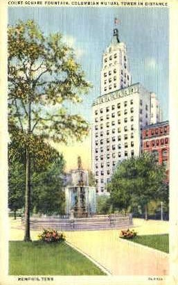 Court Square Fountain  - Memphis, Tennessee TN Postcard