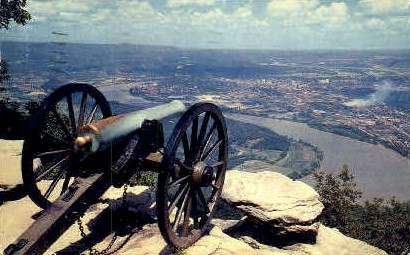 Confederate Cannon  - Chattanooga, Tennessee TN Postcard