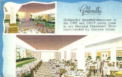 Goldsmith's Restaurant  - Misc, Tennessee TN Postcard
