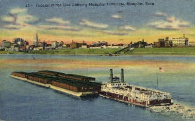 Federal Barge Line - Memphis, Tennessee TN Postcard
