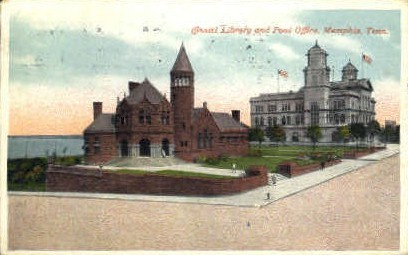 Cossitt Library and Post Office  - Memphis, Tennessee TN Postcard