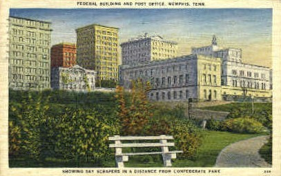 Federal Building & Post Office  - Memphis, Tennessee TN Postcard