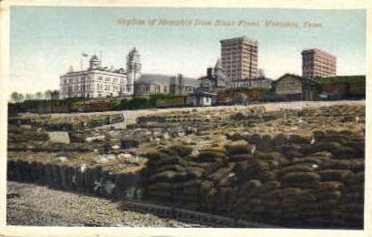 River Front - Memphis, Tennessee TN Postcard