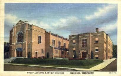Union Avenue Baptist Church  - Memphis, Tennessee TN Postcard