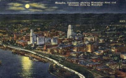 Mississippi River & Riverside Drive  - Memphis, Tennessee TN Postcard