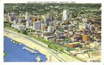 Skyline & River Front  - Memphis, Tennessee TN Postcard