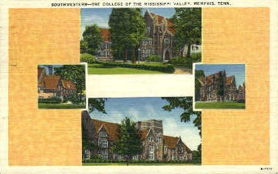 Southwestern, College of Mississippi Valley - Memphis, Tennessee TN Postcard