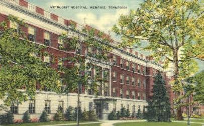 Methodist Hospital  - Memphis, Tennessee TN Postcard