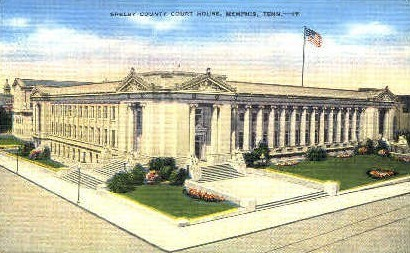 Shelby County Court House  - Memphis, Tennessee TN Postcard